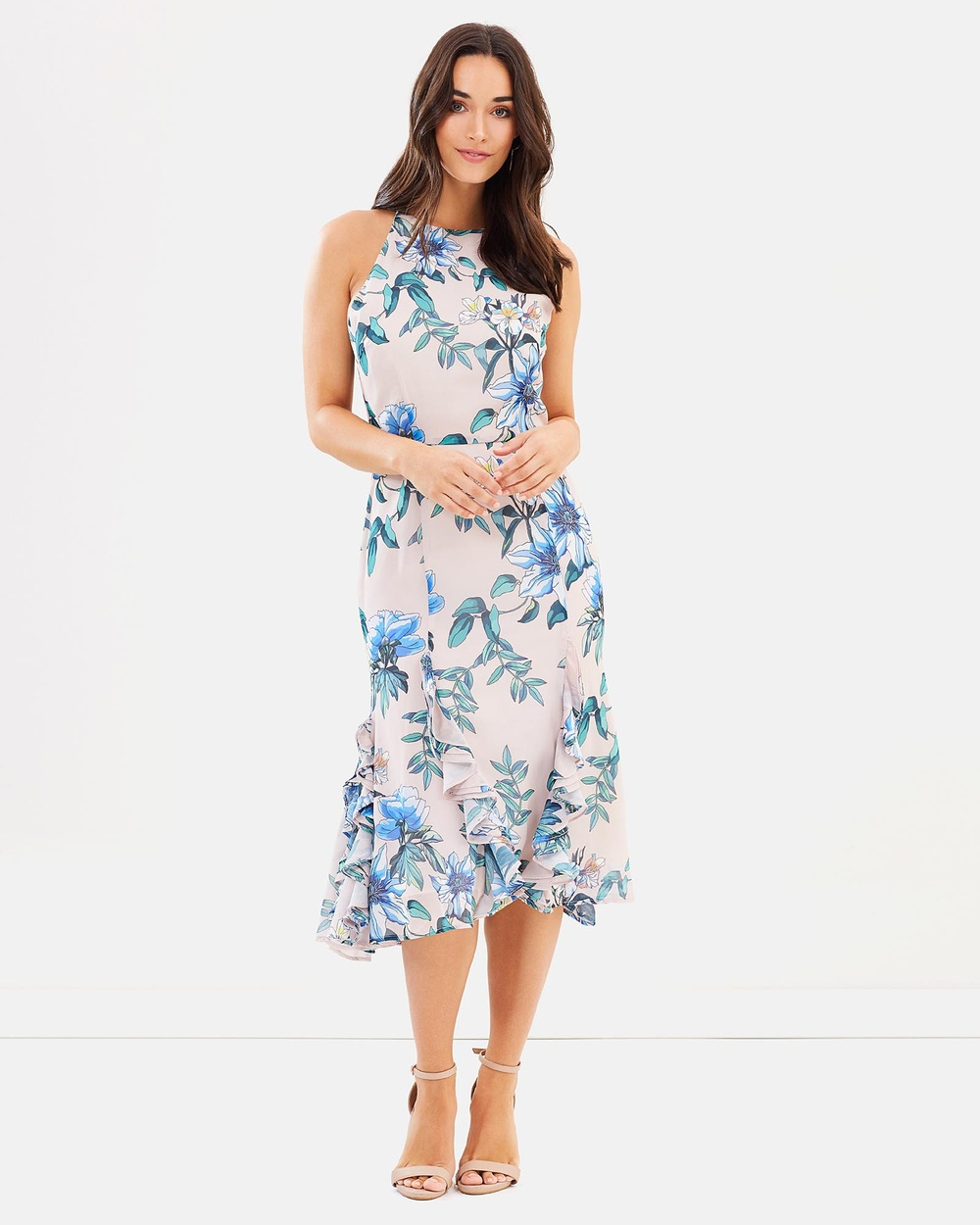 Cooper St Floral Courtyard Midi Dress Printed Dresses Light Print Floral Courtyard Midi Dress
