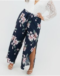 You + All - Floral Print Wide Leg Pants