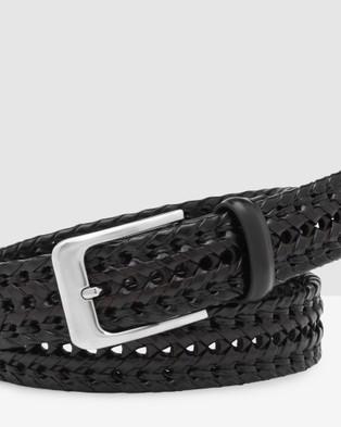 Buckle Flinders 35mm Weave Belt - Belts (Black)