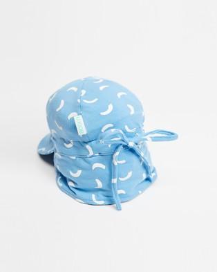 Acorn Kids Dashes Flap Hat   Babies - Hats (Blue)