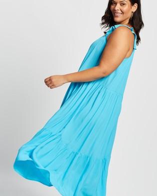 Love Your Wardrobe Jaslyn High Volume Dress - Dresses (Aqua)