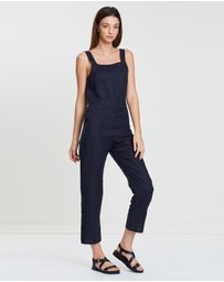 Assembly Label - Wide Strap Linen Jumpsuit