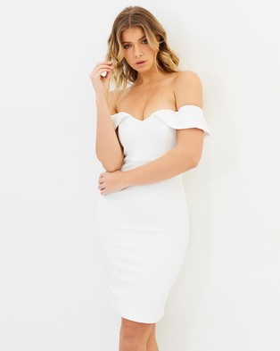 Bardot – Eva Snake Dress – Bodycon Dresses Ivory