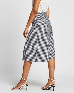 Marcs Go Gingham Midi Skirt - Skirts (Monochrome )