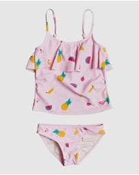 Roxy - Girls 2-7 Lovely Aloha Tankini Bikini Set