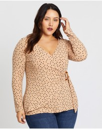 DP Curve - Wrap Rib Buckle Top