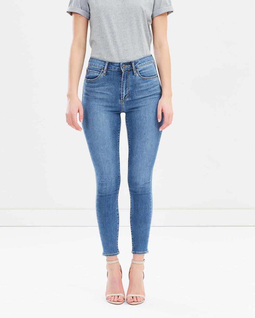 Articles of Society High Lisa Ankle Hug Jeans High-Waisted Aloha Blue