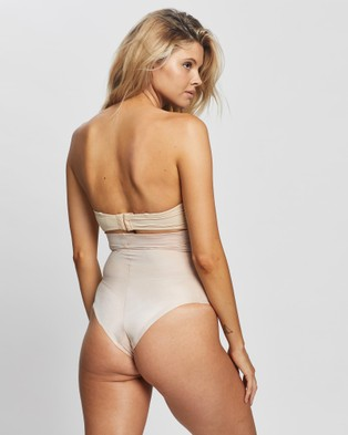 Spanx Suit Your Fancy High Waist Thong - Thongs & G-Strings (Champagne Beige)