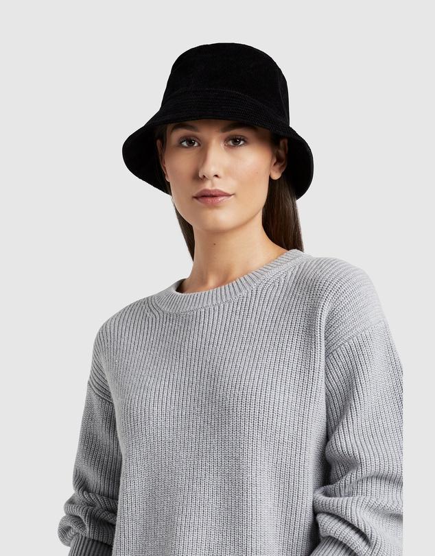 Women Corded Bucket Hat