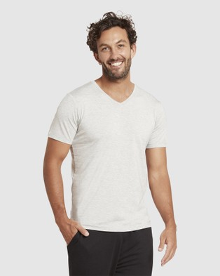 Boody Organic Bamboo Eco Wear 4 Pack V Neck T Shirt - Short Sleeve T-Shirts (Multi)
