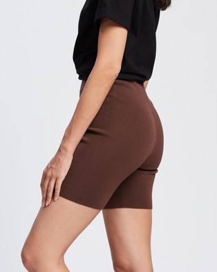Lioness Heatwave Shorts - High-Waisted (Cocoa)