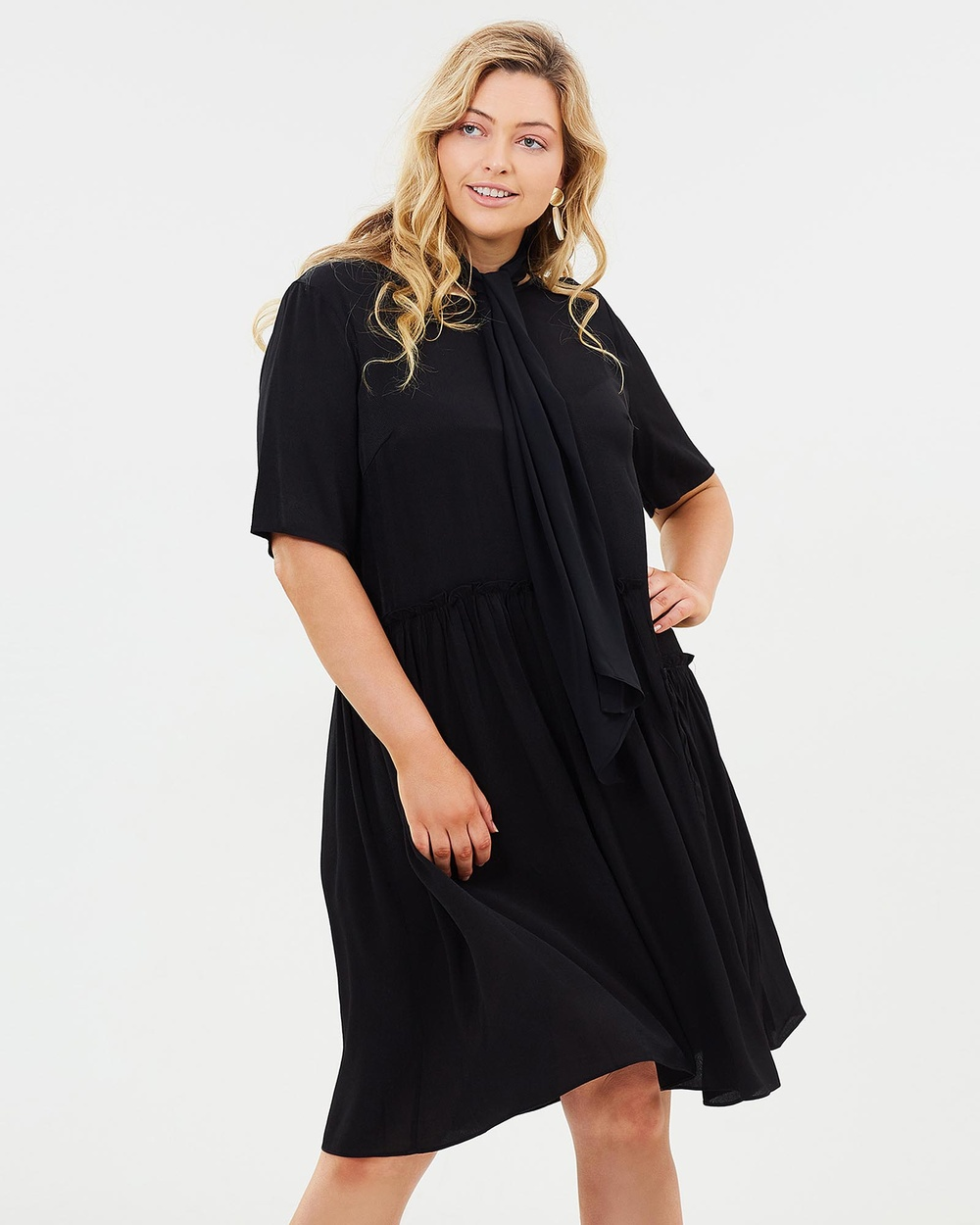 Advocado Plus Final Frontier Gathered Dress Dresses Black Final Frontier Gathered Dress