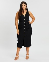 Atmos&Here Curvy - Sophia Button Front Dress