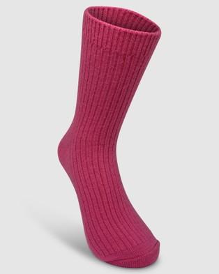High Heel Jungle Cashmere Sock - Socks & Tights (Hot Pink)
