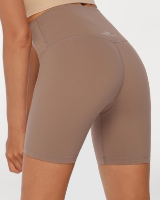 Lorna Jane Hi Fold Lotus Bike Shorts Bone Hi-Fold