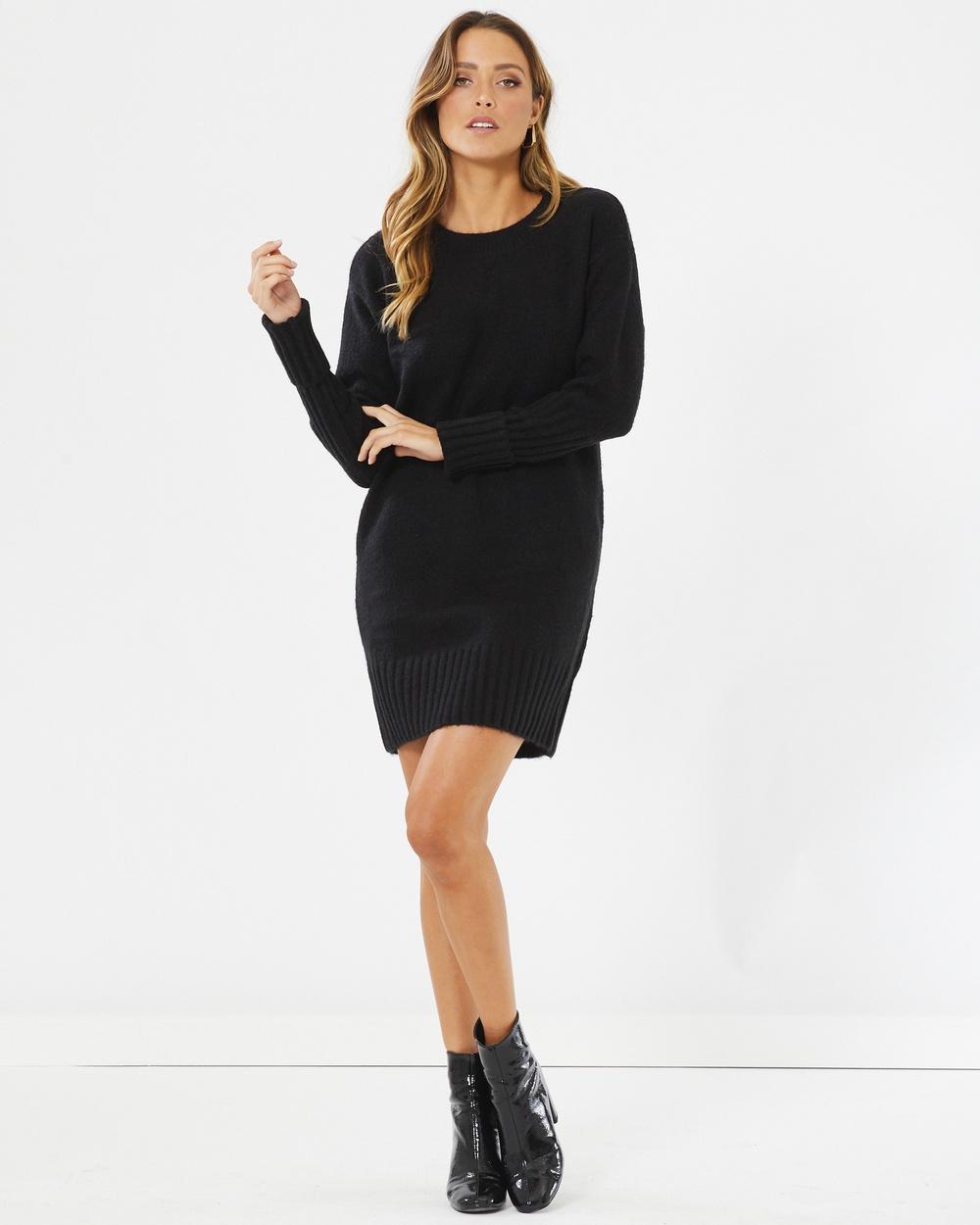 Calli Lulu Jumper Dress Dresses Black Lulu Jumper Dress
