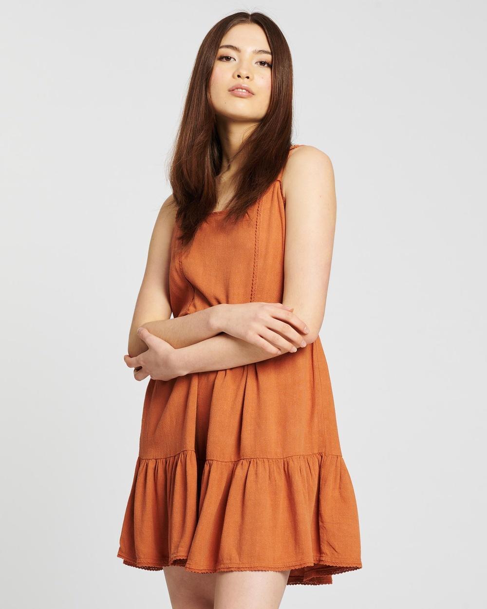 All About Eve Savanna Washed Dress Dresses Tan Australia