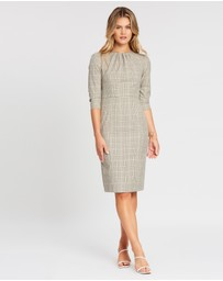 Dorothy Perkins - Check High Neck 3/4 Sleeve Dress