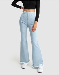 Belle & Bloom - Flare Up Pull On Jeans