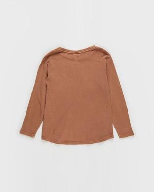 St Goliath - Long Sleeve Waffle Tee   Teens - T-Shirts & Singlets (Rust) Long Sleeve Waffle Tee - Teens