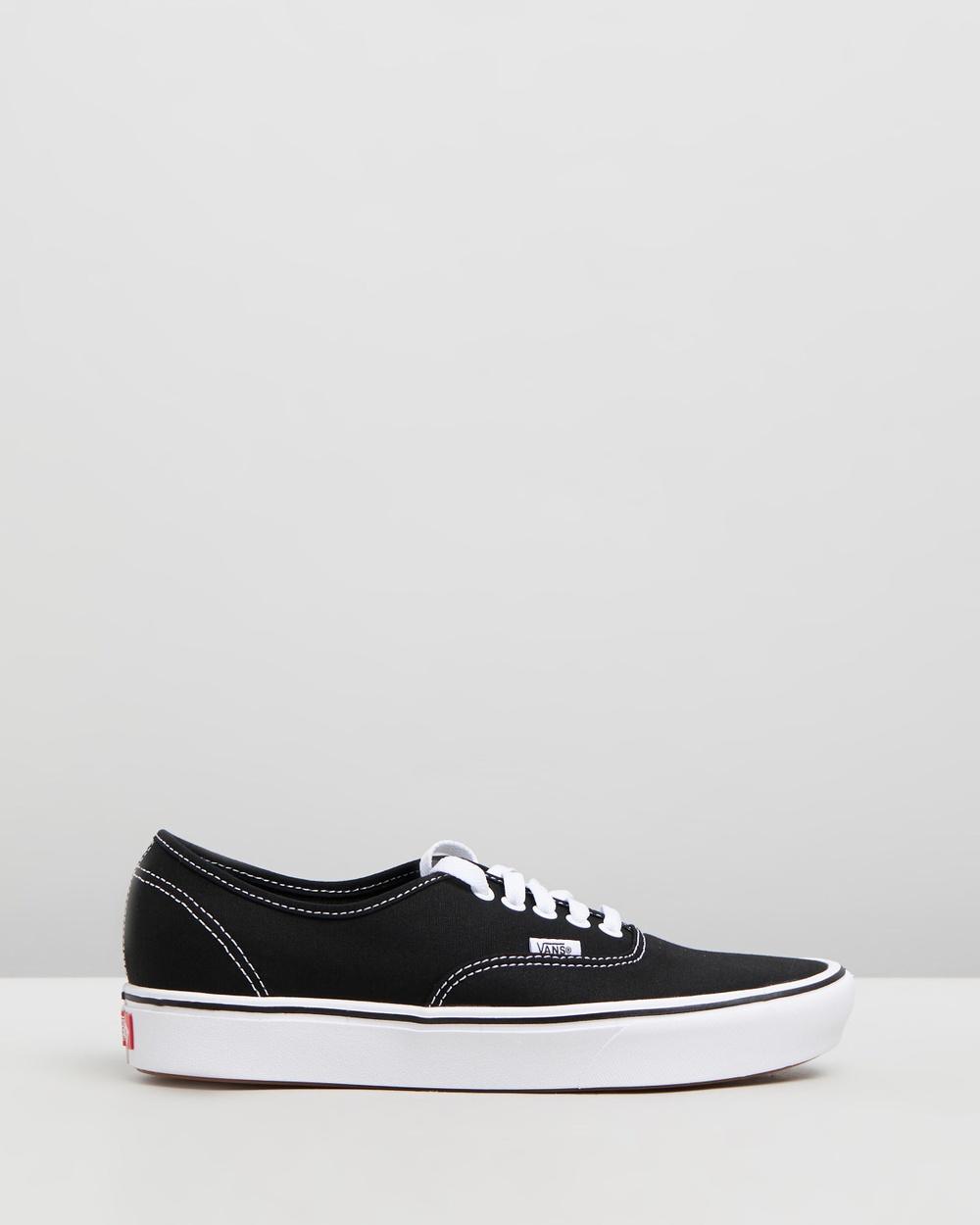 Vans ComfyCush Authentic Unisex Sneakers Black & True White Australia