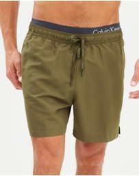 CK Swim - Medium Double Waistband Shorts