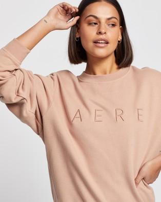 AERE Organic Cotton Aere Sweat Top - Sweats (Pink Rose)