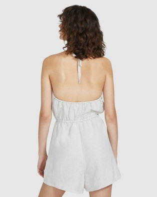 Subtitled Harry Halter Linen Playsuit - Jumpsuits & Playsuits (NATURAL)