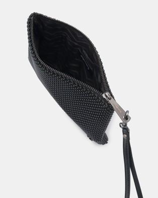 Olga Berg Vivian Ball Mesh Wristlet - Handbags (Black)