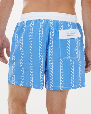 Malkin & Toad Couta Mainsheet Men's Swim Shorts - All gift sets (Light Blue)