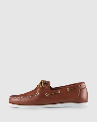 Aquila Helm Boat Shoes - Dress Shoes (Tan)