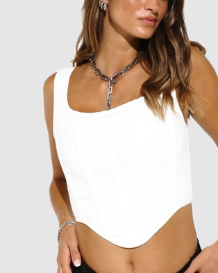 BY.DYLN Karter Corset - Cropped tops (White)