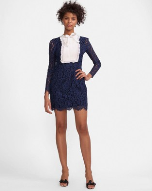 Cynthia Rowley – Lace Tuxedo Front Dress