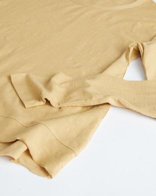 Cloth & Co. - Organic Cotton Slub Long Sleeve - Long Sleeve T-Shirts (Harvest) Organic Cotton Slub Long Sleeve