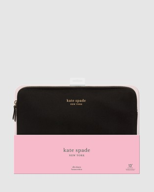 Kate Spade Kate Spade New York Slim Sleeve For 13 inch Laptop - Tech Accessories (Black)