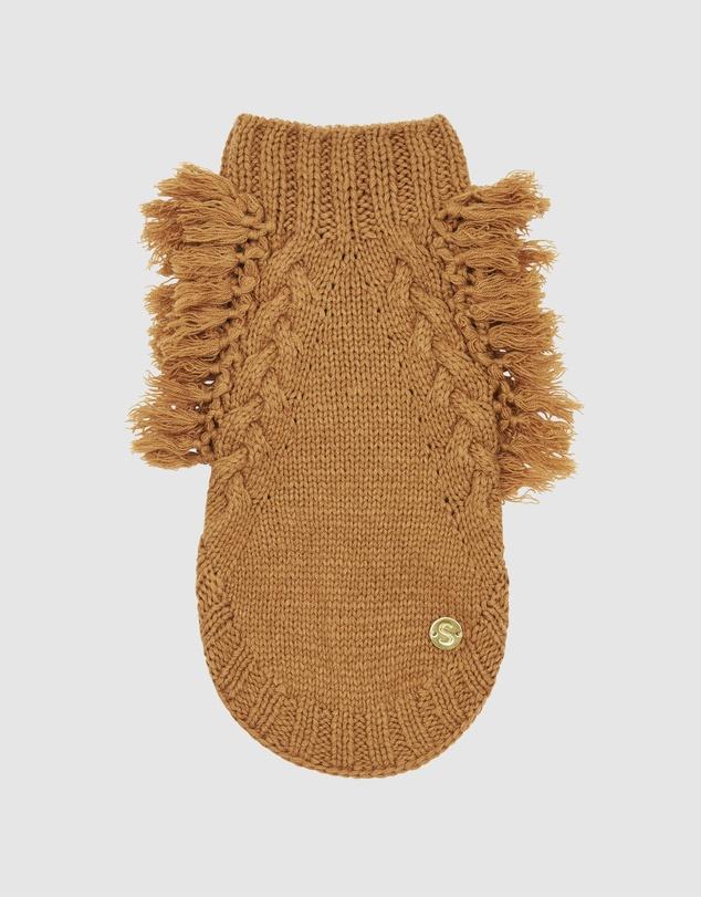 Life Fringe Wool Dog Sweater