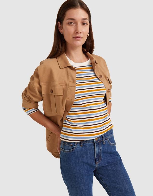 Women Heidi Stripe Long Sleeve Tee