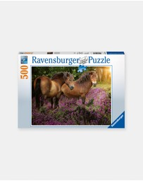 Ravensburger - Ponies in the Flowers 500-Piece Puzzle