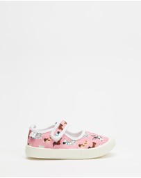 Walnut Melbourne - Mary Jane Canvas Sneakers - Kids