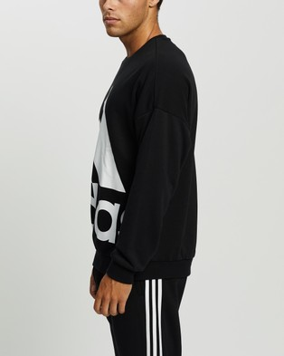 adidas Performance Favorites Big Logo Sweatshirt - Crew Necks (Black & White)