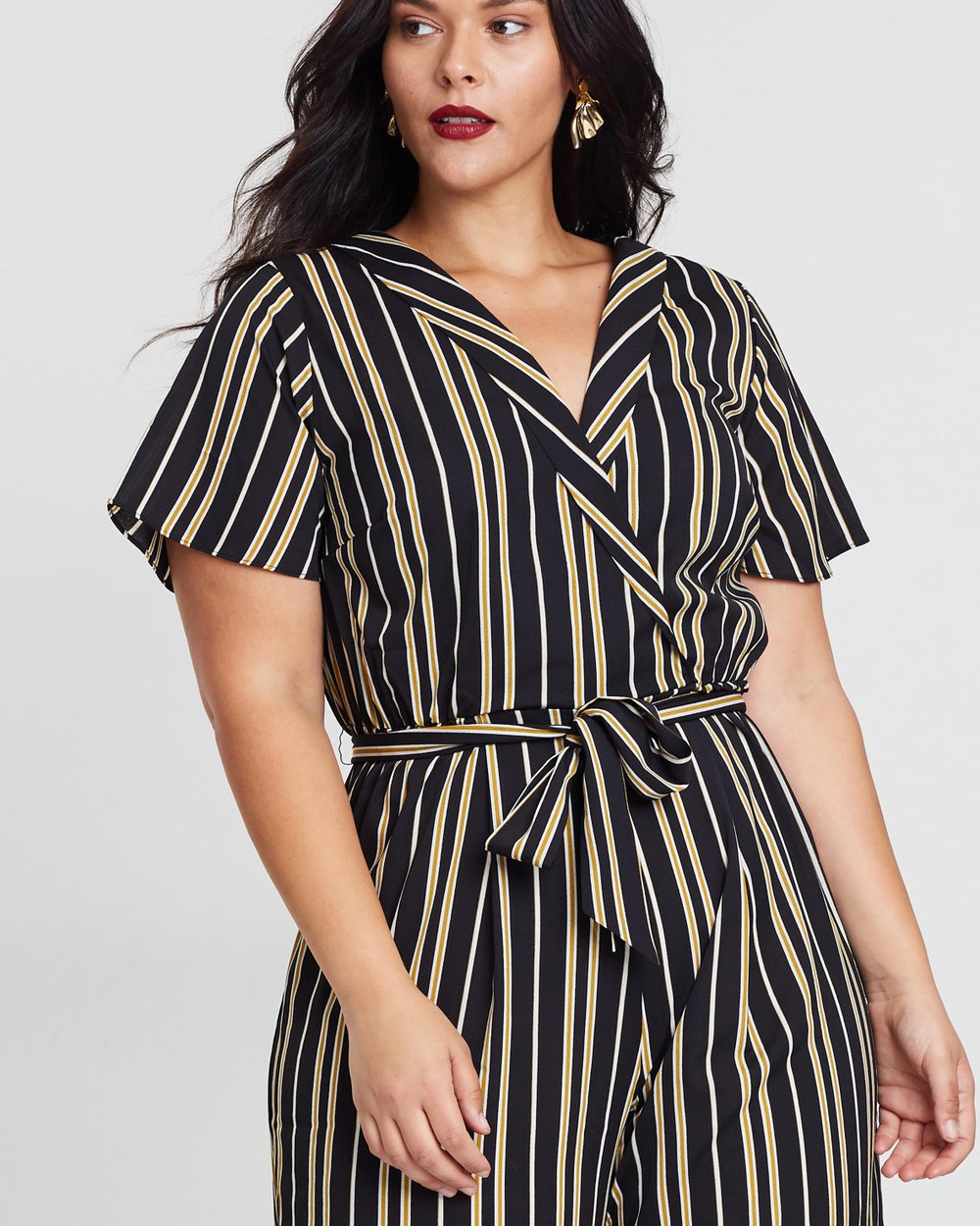 d9265a2e9b41 ICONIC EXCLUSIVE - Licorice Jumpsuit by Atmos Here Curvy Online ...