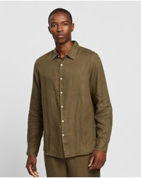 Assembly Label - Casual Long Linen Sleeve Shirt