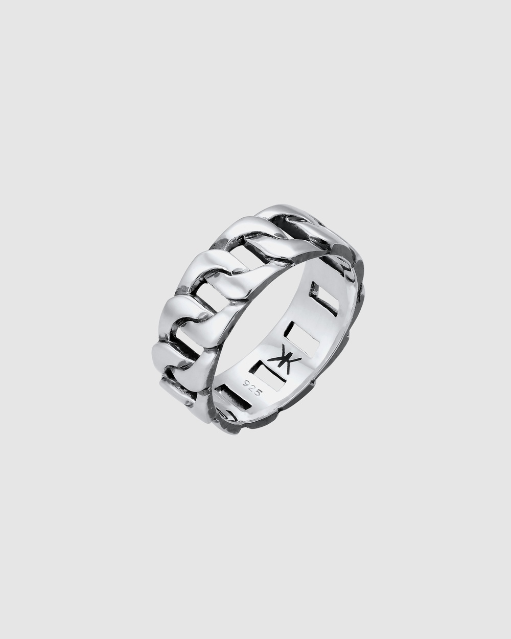 Kuzzoi Ring Statement Chunky Massive Trend in 925 Sterling Silver Jewellery Silver