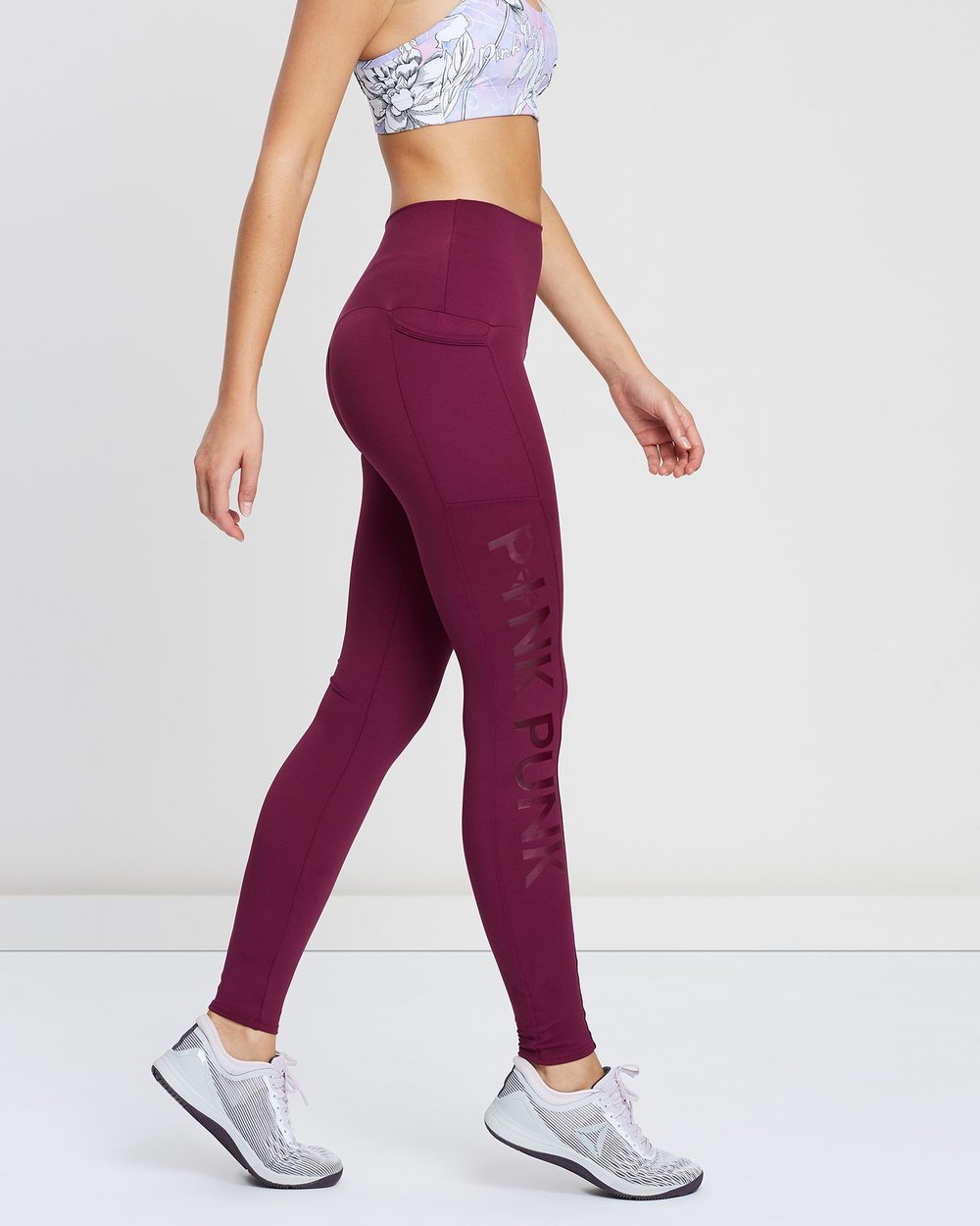 2c204aa0bb9ce Squat Proof Compression Full Length Pocket Tights - Berry by Pink Punk  Active Online | THE ICONIC | Australia