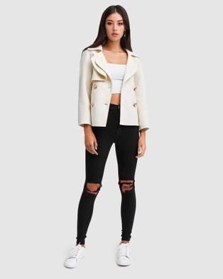 Belle & Bloom I'm Yours Wool Blend Peacoat - Coats & Jackets (Neutrals)