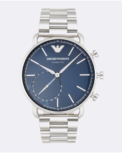 Emporio Armani - Silver-Tone Men's Digital Watch