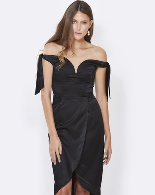 Calli – Xenia Off Shoulder Dress Black