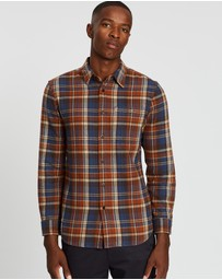 Kent and Curwen - Flannel Check Long Sleeve Shirt