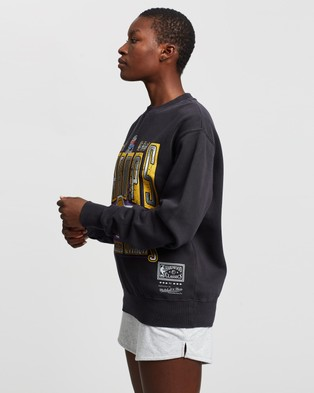 Mitchell & Ness Vintage Lakers Champions Crew Sweats Faded Black