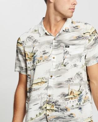Lee Busan Beach SS Shirt - Casual shirts (Vintage White)